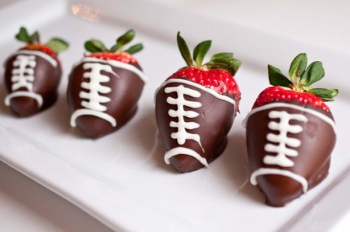 Strawberry footballs
