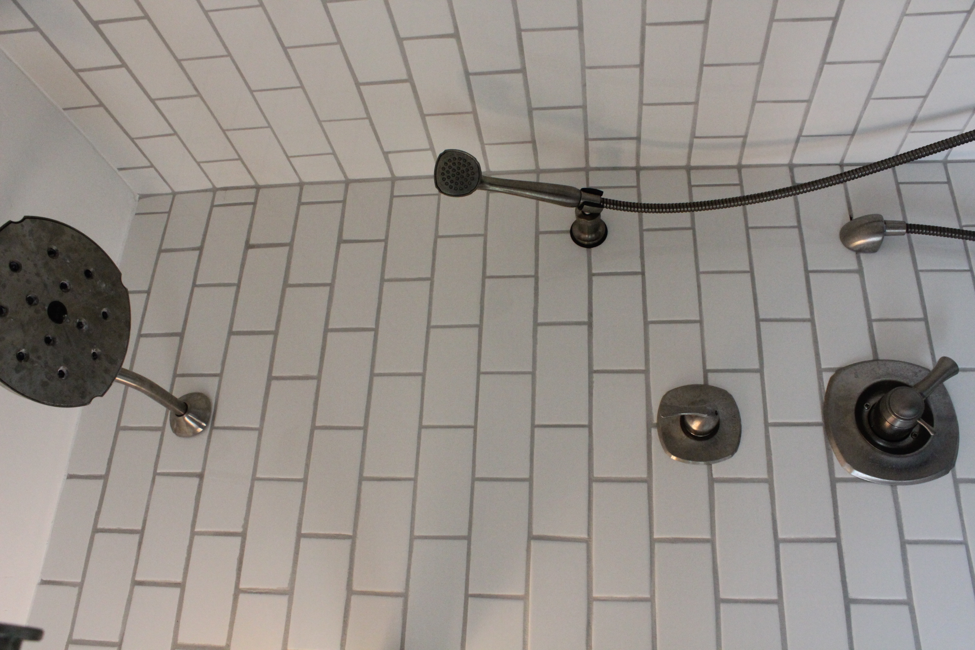 white subway tile shower 12 oaks - White Subway Tile Shower