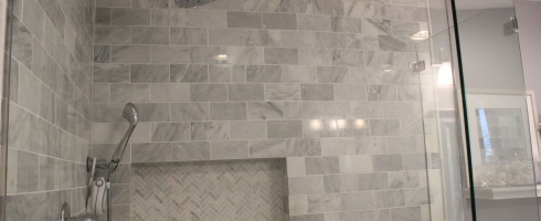 carrera marble shower